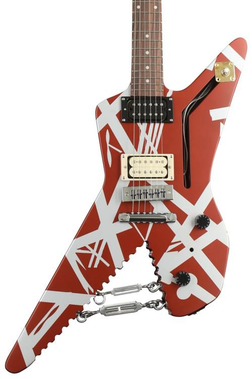Evh Striped Series Shark Burgundy With Silver Stripes Sweetwater