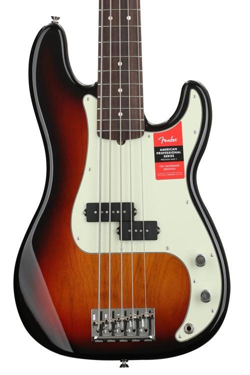 631a9c4a53 Fender American Professional Precision Bass V - 3-Color Sunburst w/  Rosewood Fingerboard image