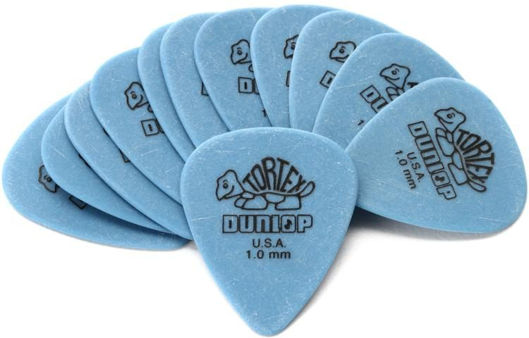 12-Pack Dunlop 1.0mm Standard Tortex Pick