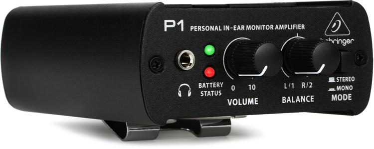 behringer powerplay p1 personal in ear monitor amplifier sweetwater