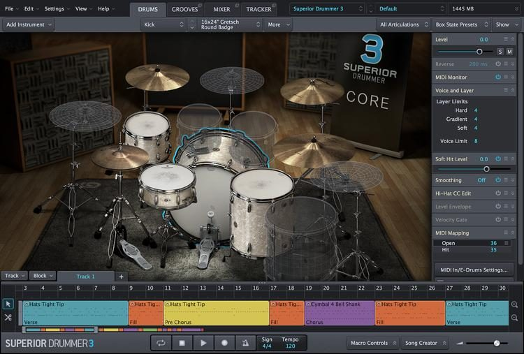 Virtual Drum Production Studio (Download)