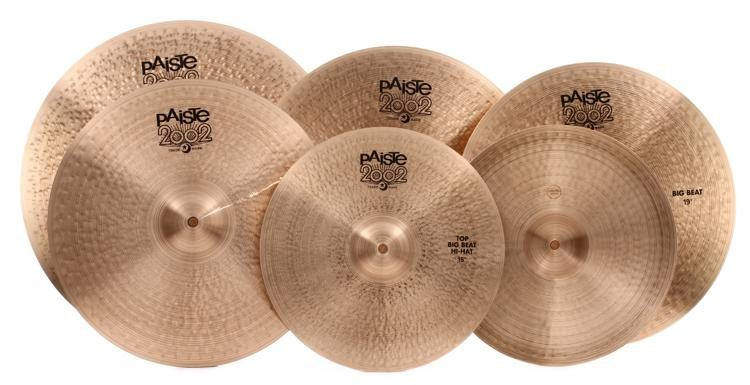 6bc0a6b5dbe Paiste 2002 Big Beat Cymbal Pack with Free 18