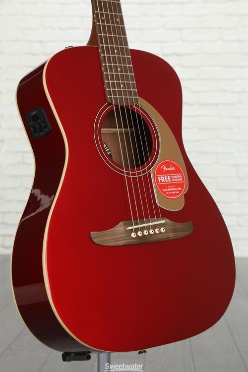 Acoustic Electric Guitars Fender Malibu Player Acoustic Electric Guitar Candy Apple Red Finish Guitars & Basses