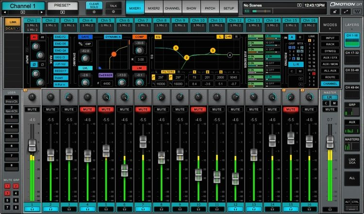 eMotion LV1 16 Stereo Channel Live Mixing Software