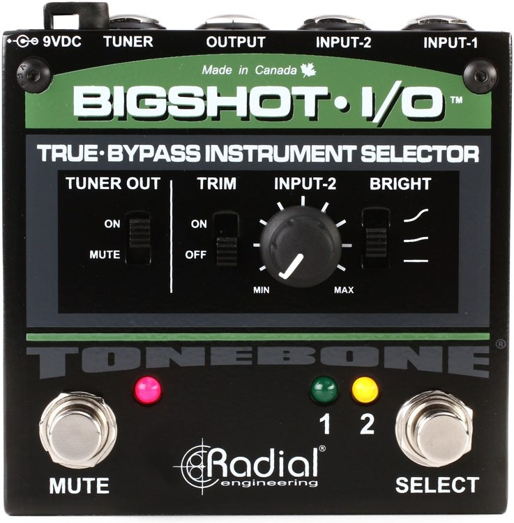 BigShot I/O True-bypass Instrument Selector