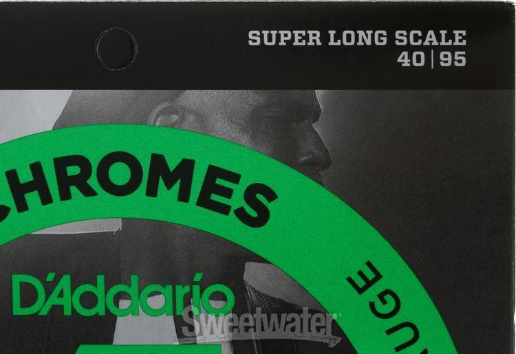 Extra Light Super Long Scale D/'Addario ECB80SL Chromes Bass Guitar Strings