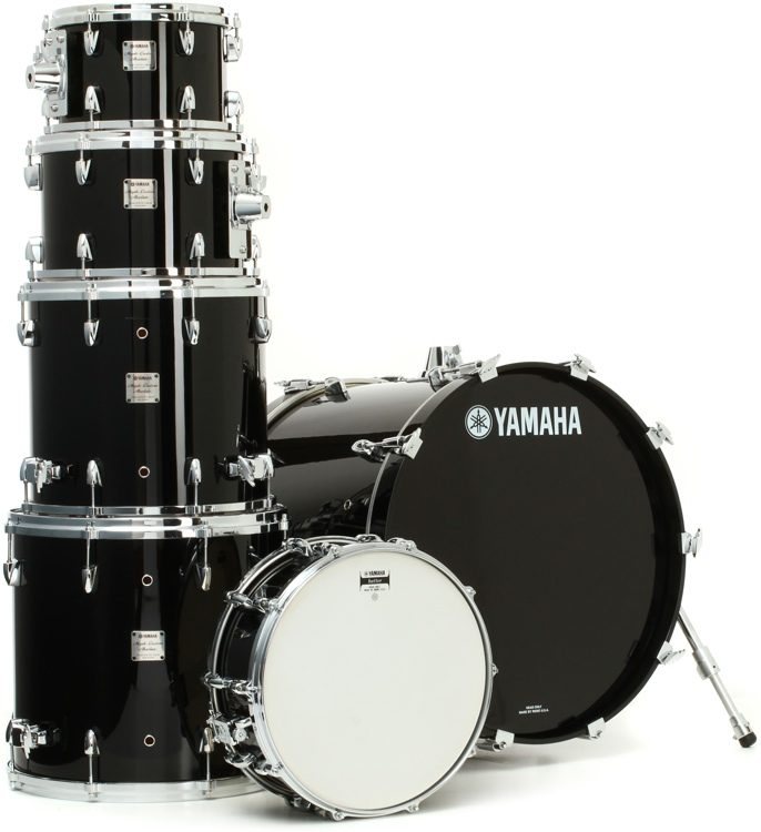 Absolute Maple 6-Piece Drum Kit - Solid Black