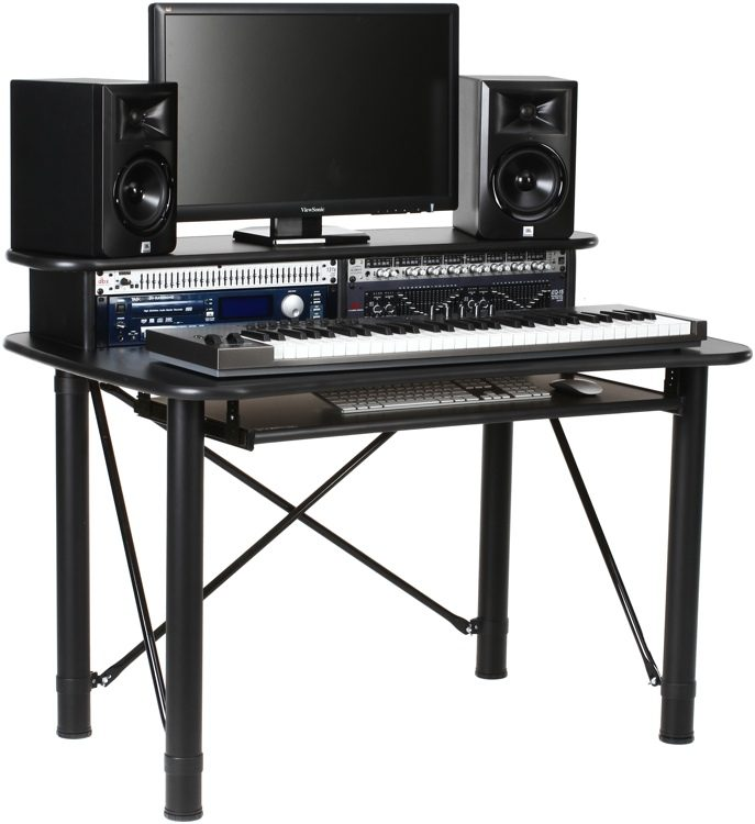 Strange Prorak 48 Music Production Desk Black Home Interior And Landscaping Palasignezvosmurscom