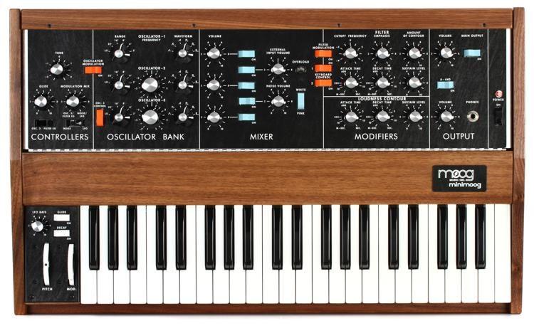 Minimoog Model D Analog Synthesizer - Walnut Limited Edition