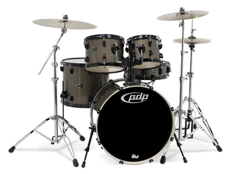 Mainstage 5-piece Complete Drum Set with Hardware & Paiste Cymbals - Bronze  Metallic