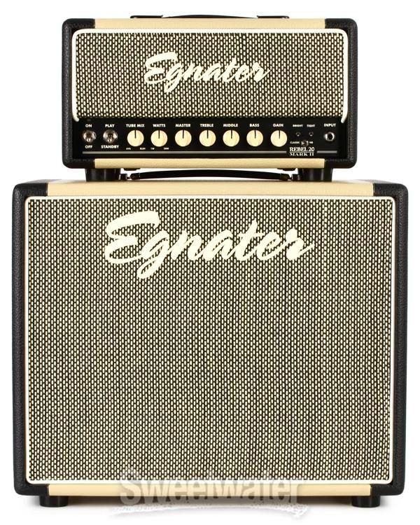 Egnater Rebel 20 Mark Ii Stack 20 Watt Tube Head With 1x12 Extension Cabinet Sweetwater
