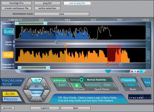 Features of VOCALIGN PRO 4