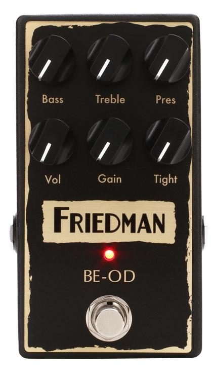 friedman be od overdrive pedal sweetwater