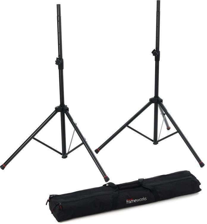 GFW-SPK-10SET Standard Aluminum Speaker Stands (set of 10) with Carry Bag