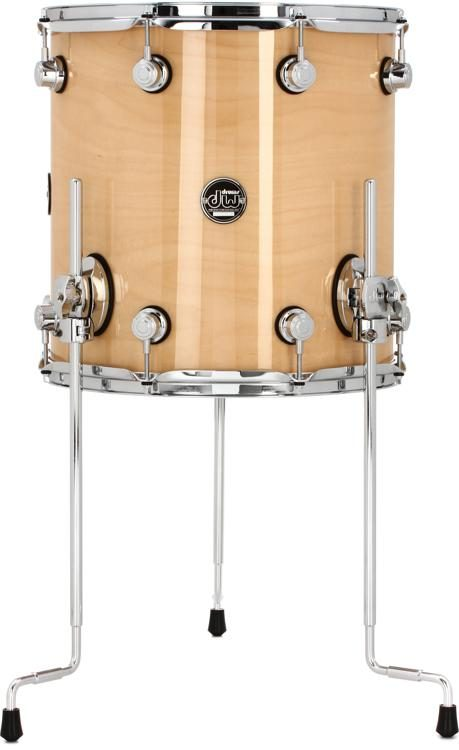 Dw Performance Series Floor Tom 14 X 14 Natural Lacquer