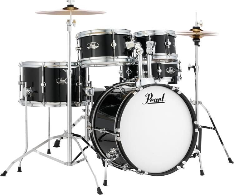 Pearl Roadshow Jr 5 Piece Complete Drum Set With Cymbals Jet