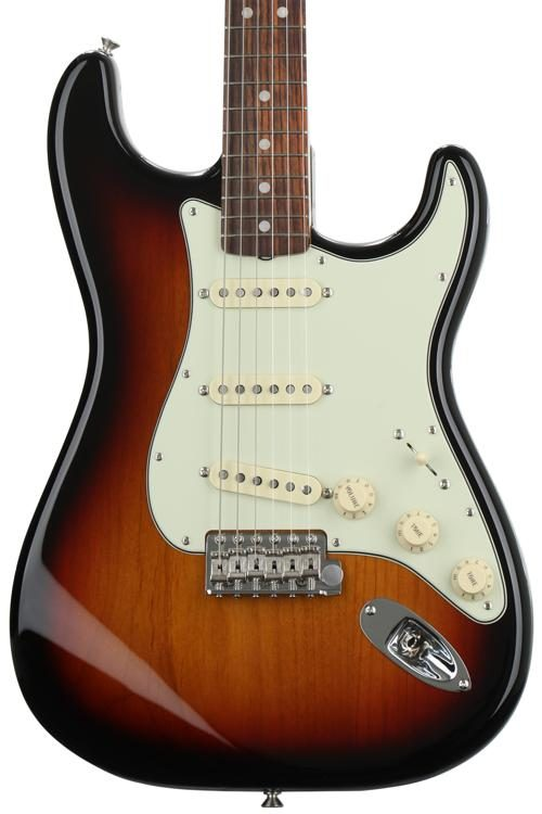 d7dbe45da6 Fender American Original '60s Stratocaster - 3-Color Sunburst. Solidbody Electric  Guitar ...