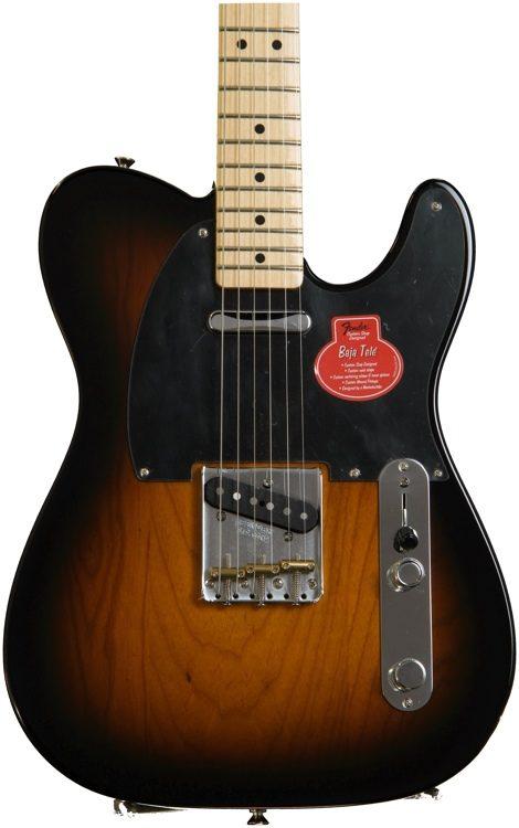 classic player baja telecaster 2 color sunburst w maple fingerboard