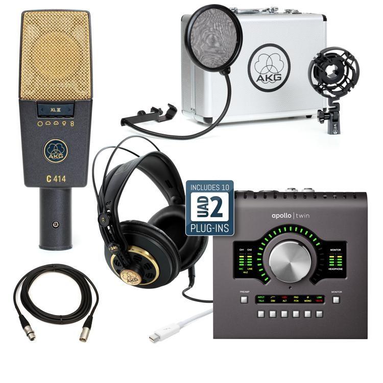 C414XLII and Universal Audio Apollo Twin QUAD mkII Recording Package