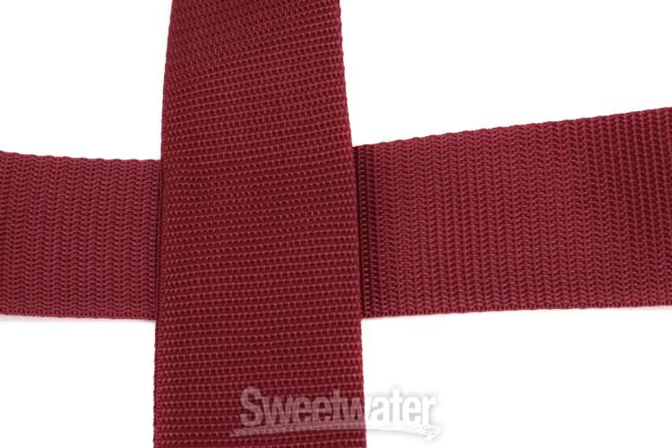 New Design!! Planet Lock Guitar Strap  PW-SPL-201 RED Locks On To The Guitar