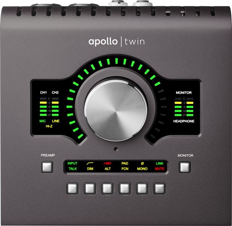 Apollo Twin MKII SOLO 2x6 Thunderbolt Audio Interface with UAD DSP