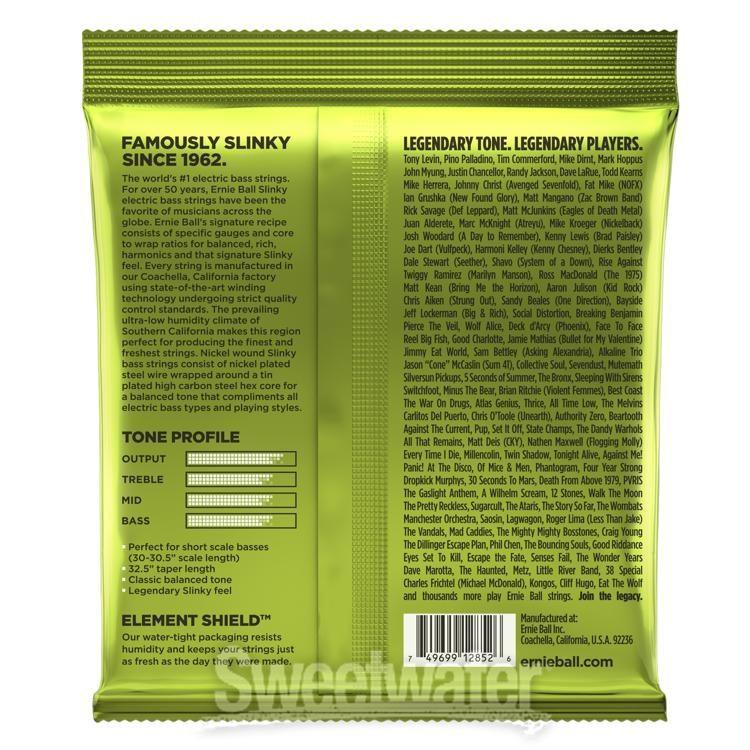 Ernie Ball 2836 Regular Slinky Bass 5 Satz 045/'/'-130/'/'