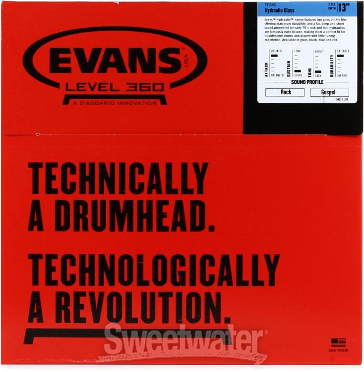 "Evans Hydraulic Glass 13/"" TT13HG Tom Batter"