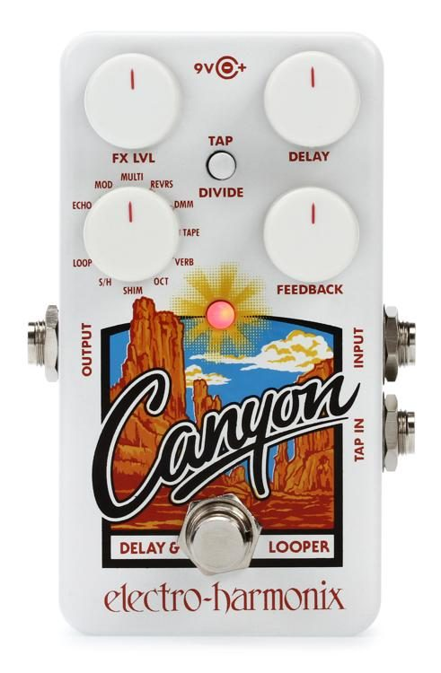 canyon delay  Electro-Harmonix Canyon Delay and Looper Pedal | Sweetwater