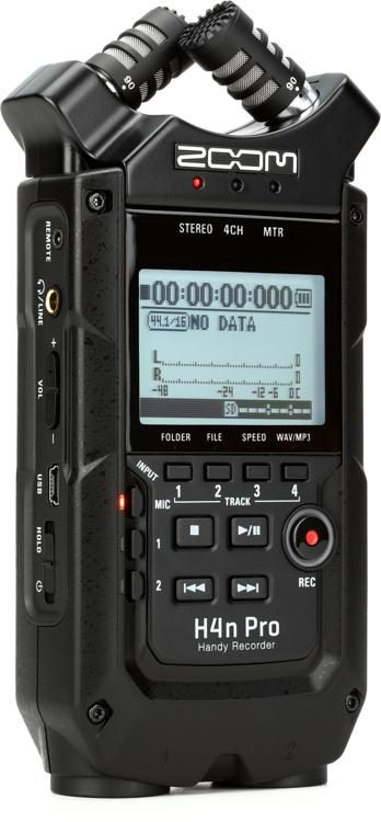 Zoom H4n Pro Ab Handy Recorder Black Sweetwater