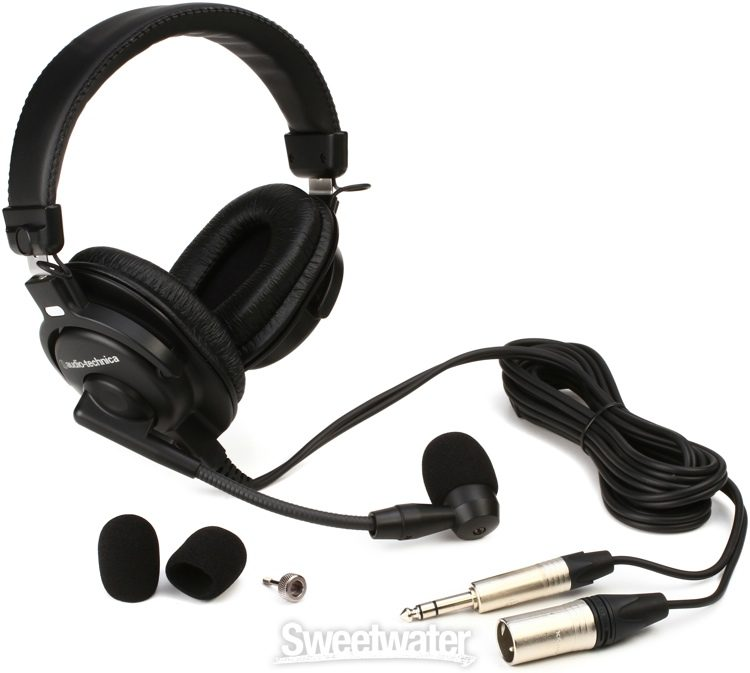 Audio Technica Bphs1 Broadcast Stereo Headset With Dynamic Boom Microphone Sweetwater
