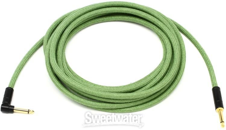 NEW Fender Festival Hemp 18.6/' Angled Instrument Cable GREEN 099-0918-062