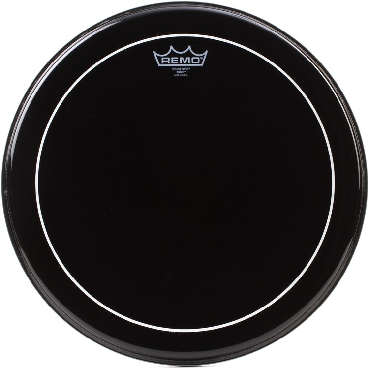 Ebony pinstripe drum heads