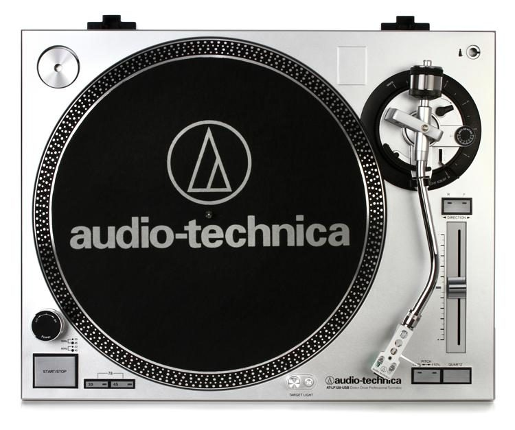 AT-LP120-USB Turntable with USB - Silver