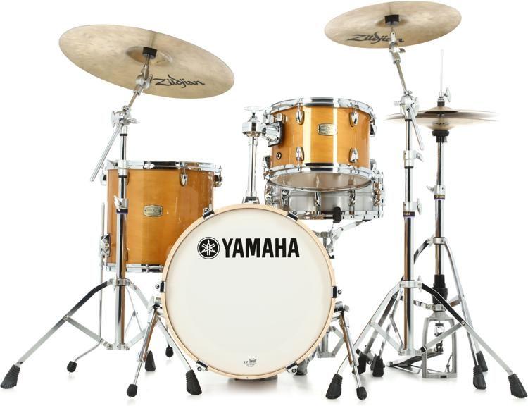 yamaha stage custom. yamaha stage custom bebop 3-piece shell pack - natural wood image 1