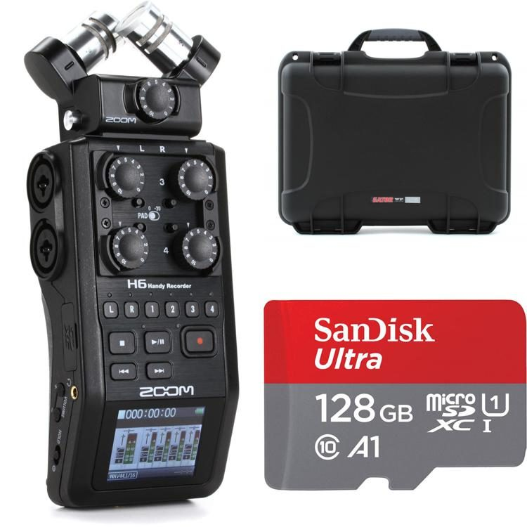 Zoom H6 Bundle With Gator Case And Sandisk Sd Card Sweetwater