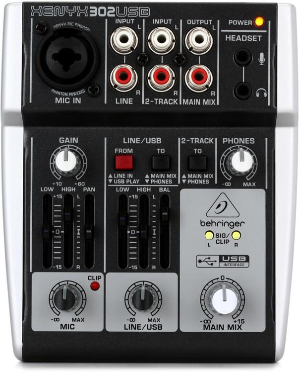 Behringer Xenyx 302USB Mixer with USB