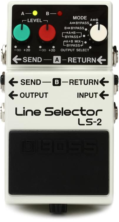 Boss Ls 2 Line Selector Pedal Sweetwater