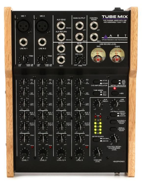 68d4d5f2db3 ART TubeMix 5-channel Mixer with USB and Assignable Tube | Sweetwater