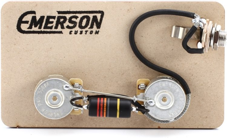 emerson custom prewired kit for gibson les paul junior sweetwater rh sweetwater com 1950 S Gibson Les Paul Wiring Les Paul Wiring Kits