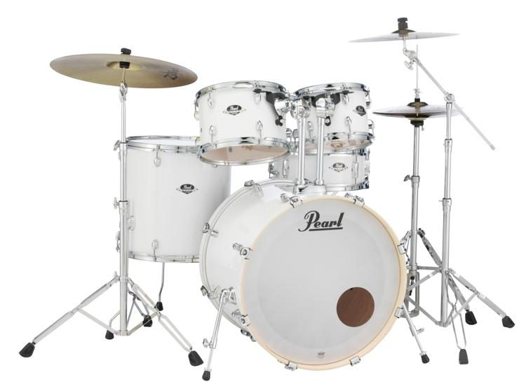 Pearl Export Exx 5 Piece Drum Set With Cymbals Hardware Pure