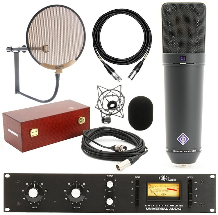 U 87 Microphone Set with Universal Audio 1176 (Matte)