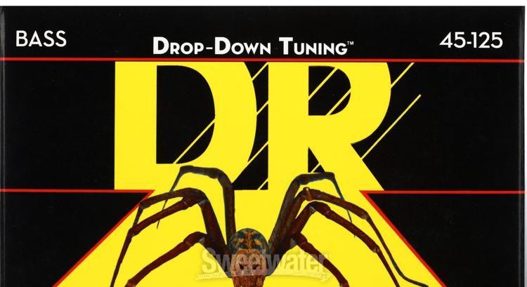 DR Strings DDT5-55 DROP DOWN TUNING Bass Guitar Strings Heavy 5-String Set
