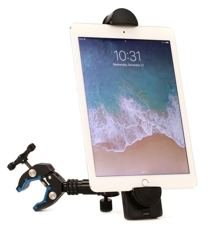Strong Adjustable Generic Tablet Holder Desktop Mounting System w// Phone Holder