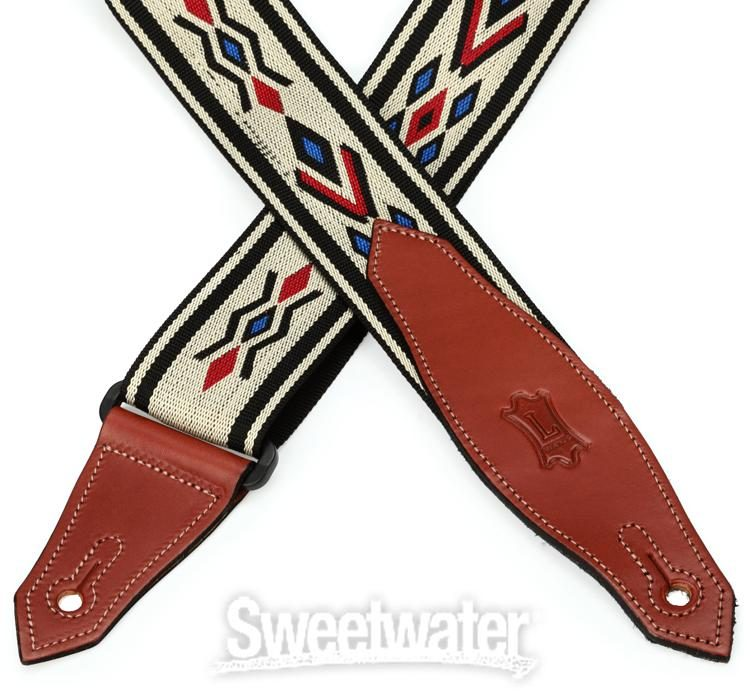 """Red Levy/'s MSSN80-RED 2/"""" Polypropylene Jacquard Weave Guitar//Bass Strap"""