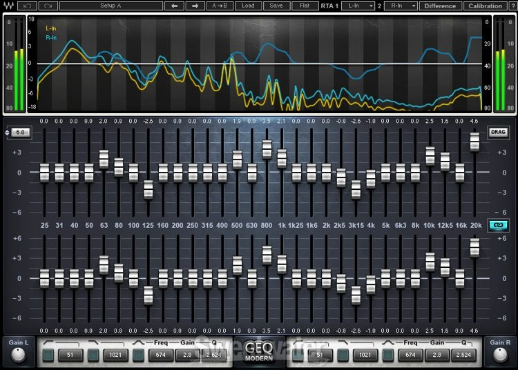 Waves GEQ Graphic Equalizer Plug-in | Sweetwater