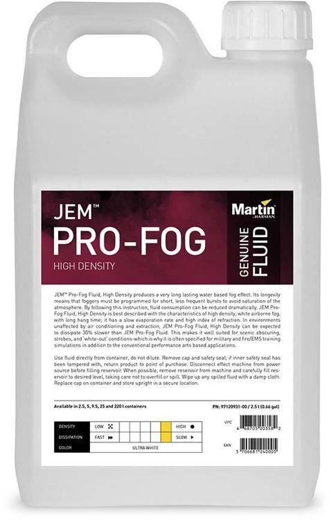 Jem Pro Fog Fluid High Density 2 5 Liter 4 Pack