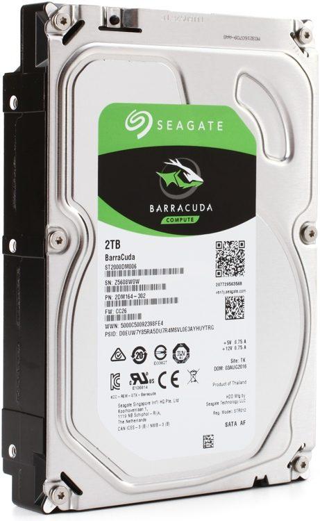 BarraCuda - 2TB, 7,200 RPM, 3 5
