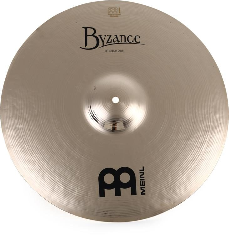 668da0da34f9 Meinl Cymbals Byzance Brilliant Medium Crash Cymbal - 18