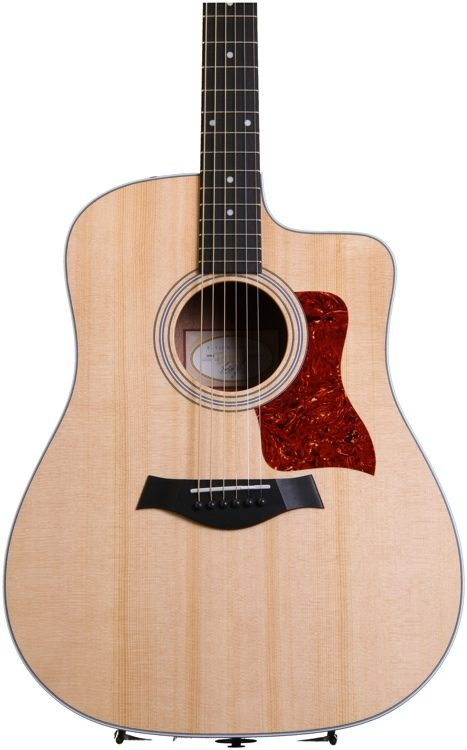 taylor 210ce dreadnought w/cutaway and electronics - natural image 1