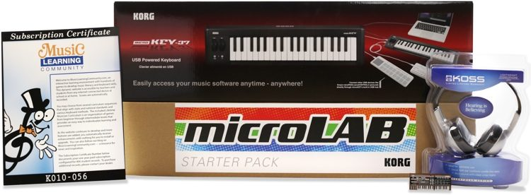 microLAB Online 37 Key 31 Seat School Music Lab Bundle